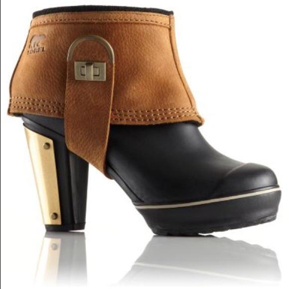 802c9d7aacc Sorel Women's Medina II leather rain boots